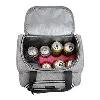 Large Picnic Bag Insulated Bag Reusable Cooler Picnic Bag Adjustable Shoulder Strap Storage Accessory Supply for Camping Hiking