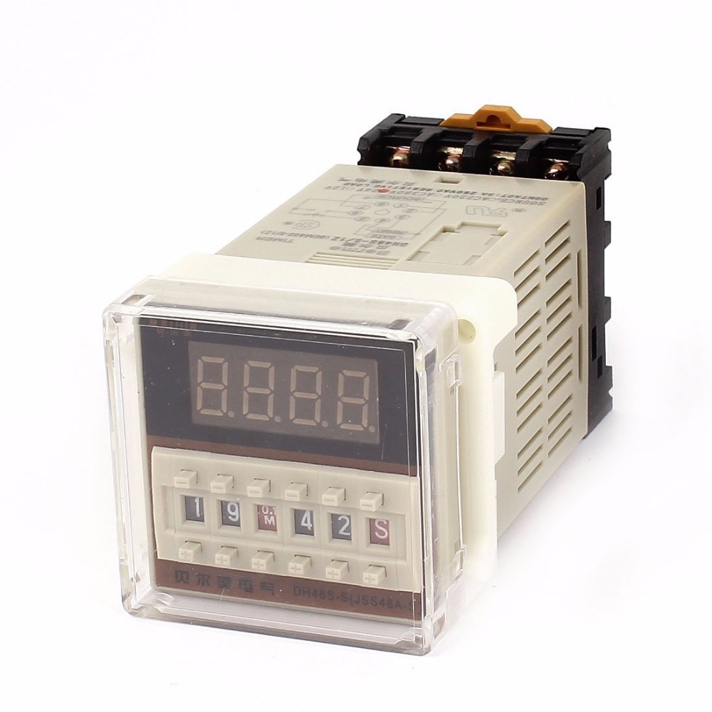 цена на DH48S-S AC/DC 24V 12V 220V 110V 0.1S-99H 8-Pin Adjustable Time Delay Timer Relay