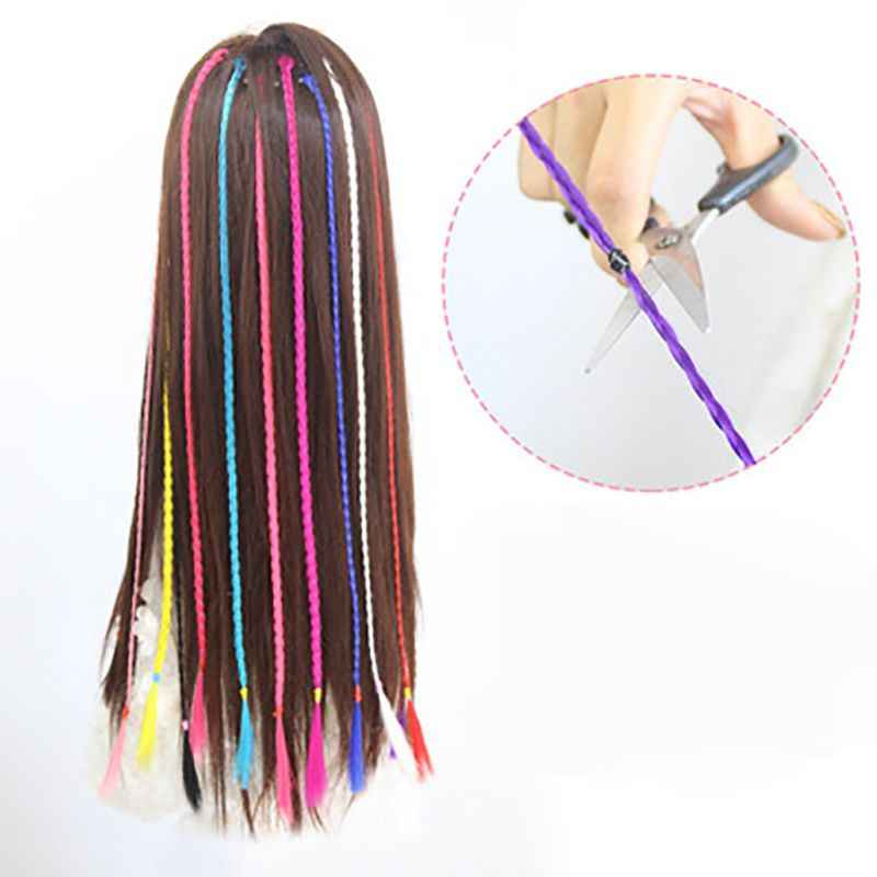 Girls Colorful Wigs Ponytail Hair Ornament Hairpin Beauty Hair Clip Headwear Kids Hair Accessories