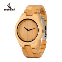 BOBO BIRD WD19 TOP ยี่ห้อ Designer ไม้ไผ่ Mens นาฬิกา Luxury Japanses Moyia การเคลื่อนไหวควอตซ์นาฬิกาข้อมือไม้กล่อง