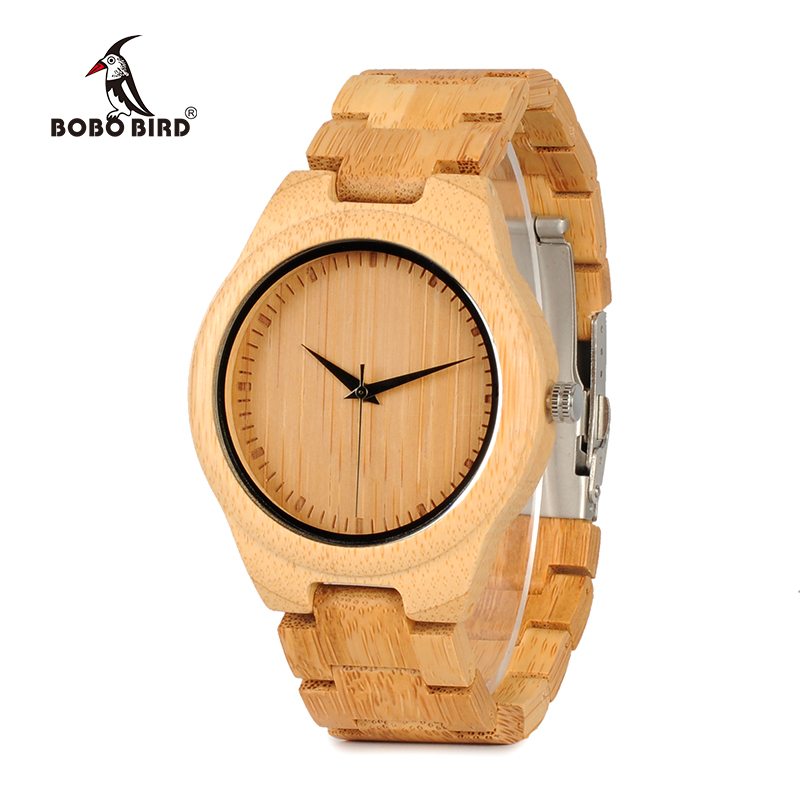 BOBO BIRD WD19 Top Brand Designer Full Bamboo Mens Klockor Luxury Japans Moyia Movement Quartz Armbandsur Wooden Box
