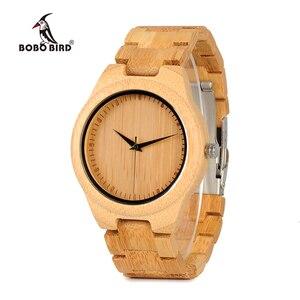 Image 1 - BOBO BIRD WD19 Top Brand Designer Full Bamboo Mens Watches Luxury Japanses Moyia Movement Quartz Wristwatches Wooden Box