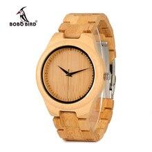 ボボ鳥 WD19 トップブランドデザイナーフル竹メンズ腕時計高級 japanses moyia ムーブメントクォーツ腕時計木製ボックス
