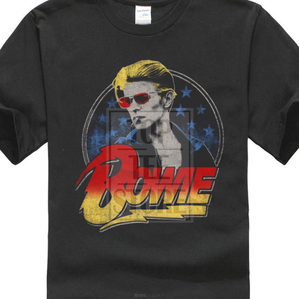 Official Kids David Bowie Life On Mars T Shirt Charcoal Amplified Boys Girls New