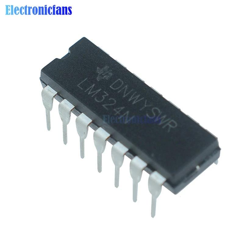 10x LM324N LM324 DIP-14 TI Vierfach-Operationsverstärker-IC-Chip mit niedrige ib