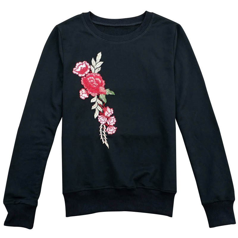 4 Colors Harajuku Embroidery Women Sweatshirt High Quality Hoodie Female Pullover Tops