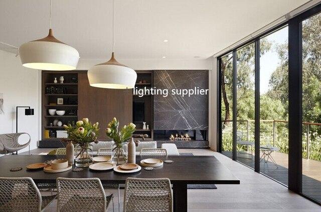 Moderne Pendelleuchte Holz Und Aluminium Lampe Schwarz/weiß Restaurant Bar  Kaffee Esszimmer LED Hängeleuchte