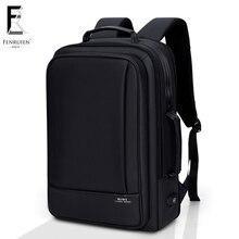 FENRUIEN Business Backpack Men 15 Inch Laptop Backpack Bag Large Mochila Black Unisex Waterproof Teenager Travel Men Backpack недорго, оригинальная цена