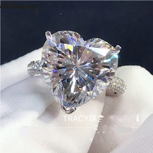 choucong Heart Lovers Promise Ring 925 sterling Silver 4ct AAAAA Sona cz Engagement Wedding Band Rin