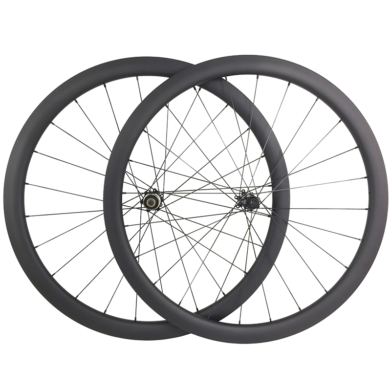 1340g 700c 42mm asymmetric road disc carbon wheels clincher tubeless 25mm U shape D411SB D412SB 9mm