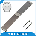 22mm Milanese Loop Watch Band Magnetic Buckle Strap for Ticwatch 1 46mm Quick Release Belt Bracelet Black Rose Gold Silver