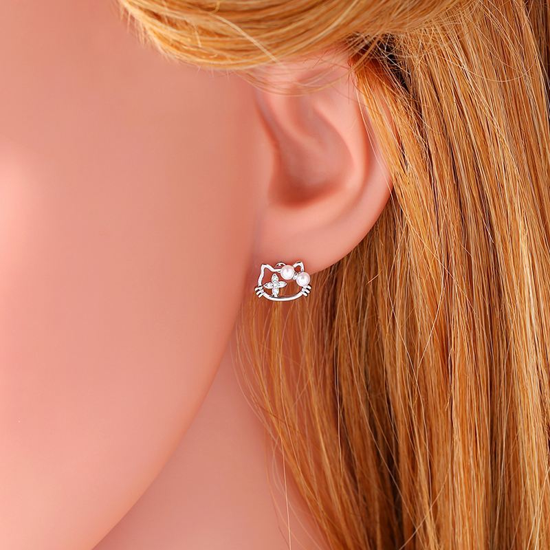 flower screwback is gold halo loading for blue stud baby itm cz earrings butopaz topaz childrens image