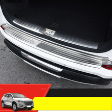 Lsrtw2017 Stainless Steel Car Trunk Guard Board for Hyundai Tucson 2015 2016 2017 2018