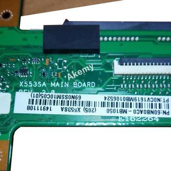 AK X553SA האם מחשב נייד עבור ASUS X553SA X553S X553 מבחן מקורי Mainboard N3050 מעבד