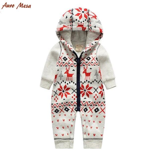 Auro Mesa Christmas Baby Padding Clothes Winter Baby Boys Romper Jumpsuits