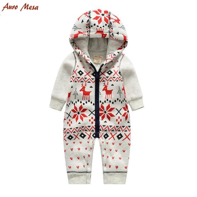 Auro mesa preenchimento roupas natal do bebê de inverno meninos romper do bebê macacões