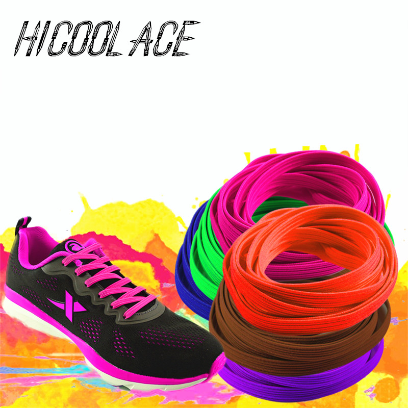 2018 Bestselling No Tie Shoelaces System with Elastic Laces Flat Elastic Shoe Laces Lazy Shoelaces for Adults and Kids Shoes