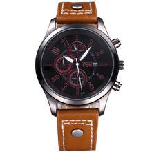 Luxury Brand Leather Men Watch Sport Design Quartz Military Watches Man Wrist Watch Male Clock Chaxigo Brand Relogio Masculino