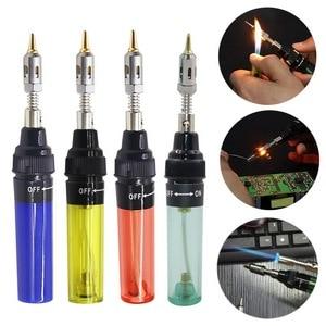 Image 1 - Urijk 1300 Celsius Butane Gas Welding Soldering Irons Welding Pen Burner Blow Torch Gas Soldering Iron Cordless Butane Tip Tool
