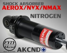 AKCND Universal 320mm-340mm/12.5 Motorcycle shock absorber rear For yamaha aerox 155 nvx nmax155 xmax155