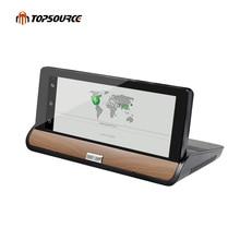 TOPSOURCE 3G Cámara Del Coche DVR 7 pulgadas Del Carro Del Coche de Navegación GPS FHD 1080 P de Doble Cámara de Android 5.0 BT Navegador Libre Del gps Del Vehículo mapas