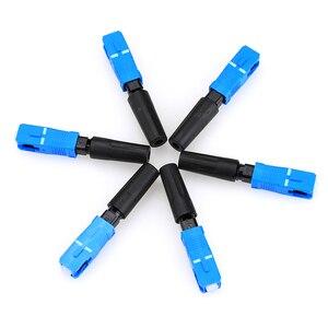 Image 2 - 10/100 stücke Freies Verschiffen Ftth Embedded Typ SC Faser Kabel Stecker Schnelle Stecker SC Fiber Optic Schnelle Stecker KELUSHI
