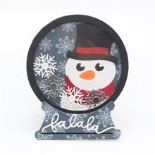 Снежный глобус шейкер металлические трафареты для пресс-формы для DIY скрапбукинга/фото украшение для альбома тиснение бумажных карт