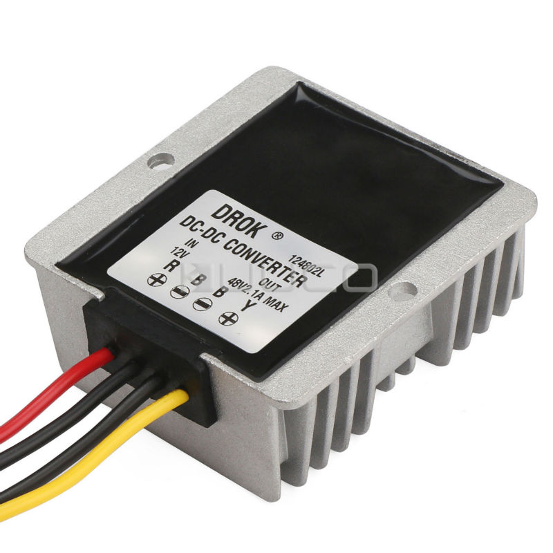 100W Car Converter DC 12V (9~23V) to 48V 2.1A Boost Power Supply Module/Voltage Regulator/Power Converter/Adapter/Driver Module fujicables 1 rca male to male connection audio cable brown 200cm