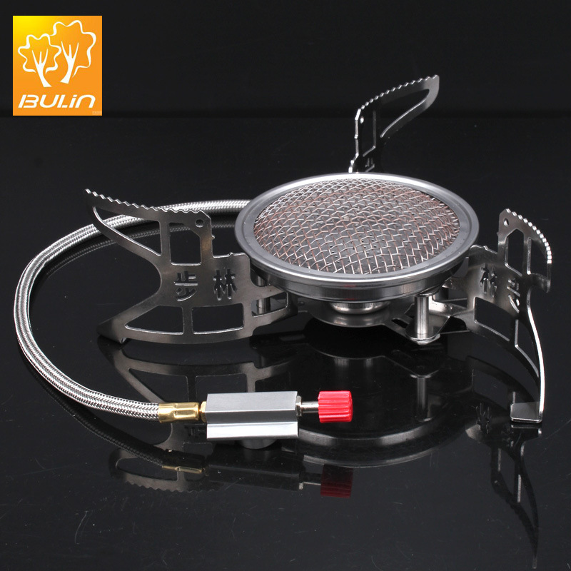 BULIN BL100 - B15 Outdoor Gas Stove Foldable Cooking Camping Split Burner Ultralight Aluminum Alloy Gas-powered Stove for Hiking lightweight folding 2 burner portable camping stove propane butane gas outdoor stove camping cooker camping cooking equipment