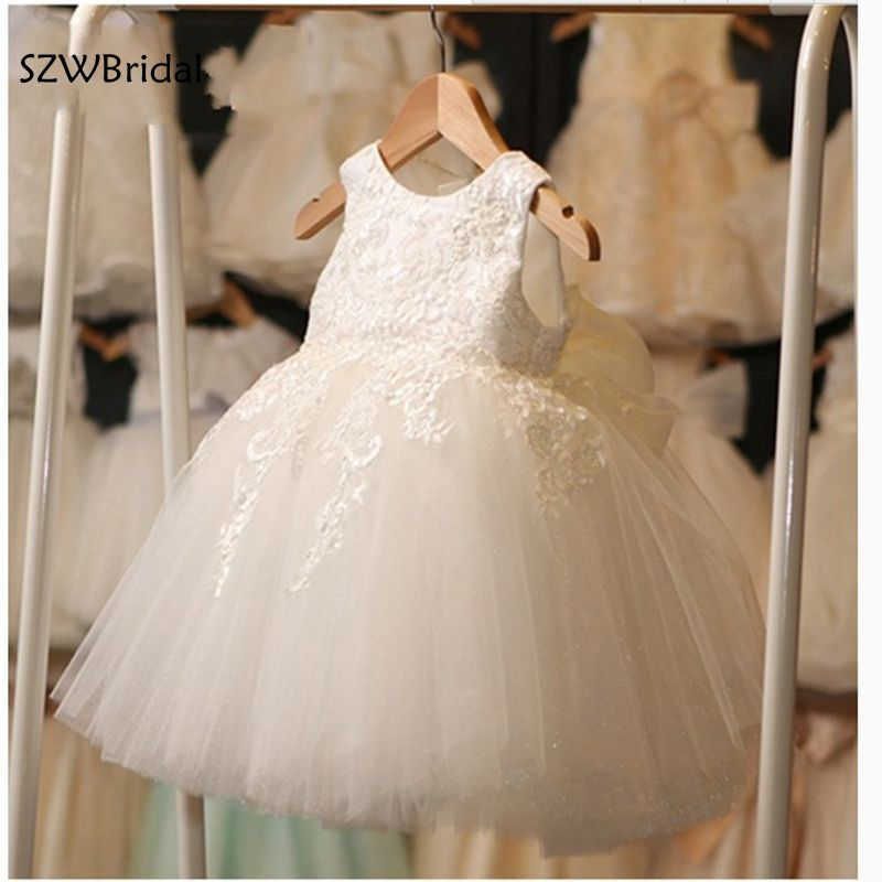 New Arrival Cap sleeve White first communion   dresses   for   girls   Lace Vestidos de primera comunion 2019   Flower     girl     dresses