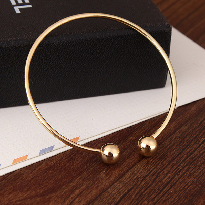 LNRRABC 1PC New Women Men High Silvery Golden Great Ball Drop Shipping Bangles Opening Gifts Round Unique Allergy Free Hot Sale