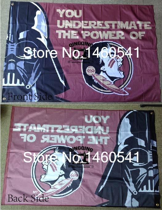 Florida State Seminoles Wars Flag 3ft x 5ft Polyester NCAA Banner Flying Size No.4 144* 96cm QingQing Flag