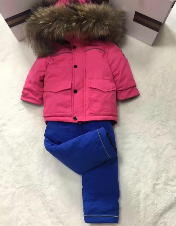 -30 degree Russia Winter children's clothing girls clothes sets for new year's boys parka jackets coat down snow wear 2016 china factory russia winter parka padding jackets trousers overcoat clothing sets for boys ski suit reima baby snowsuit