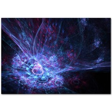 A853 Wormhole Blacklight Nature Visual Night Scenery Top A4 Art Silk Poster Light Canvas Painting Print