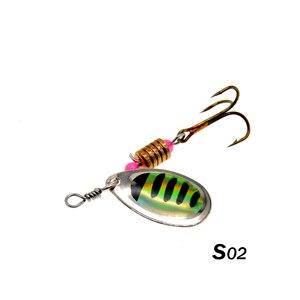 Image 3 - WLDSLURE 2 pz/lotto Spinner Bait 3.5g esca da pesca in metallo cucchiaio esche esca dura con ganci per la pesca alla carpa