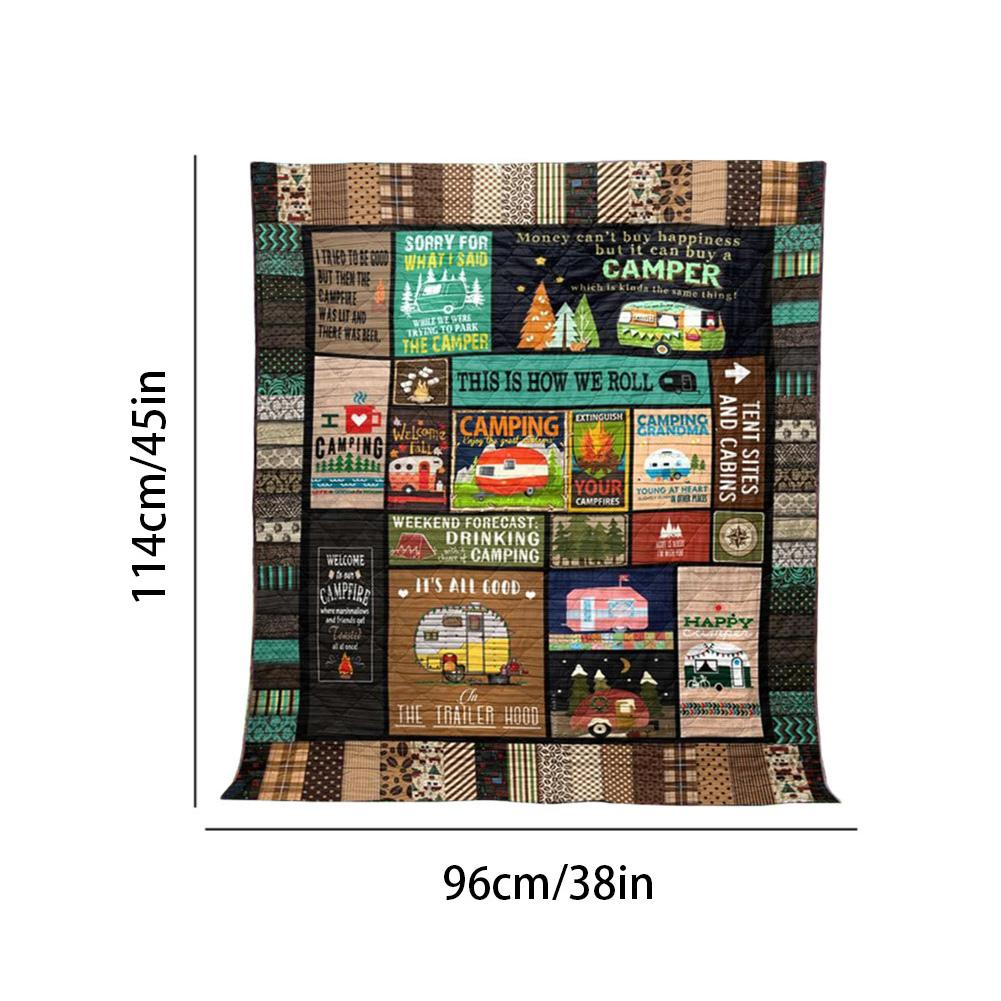 Concerts 3D Printed Blanket Style 1 Outdoor Down Camping Blanket for Traveling Picnics This is How We Roll Camping Blanket Quilt Beach Trips