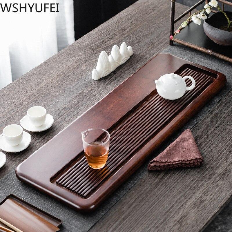 City craft plateau à thé en bambou lourd table à thé thé rectangulaire kung fu ensemble de thé drainage droit grand cadeau de ménage plateau à thé