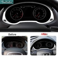 1 PCS Car NEW Stainless Steel Dashboard Decorative Light Box Case Fit For AUDI 2013 15
