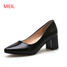 цены Black Pumps Women Shoes High Heels Lolita Ladies Shoes Woman Office Dress Shoes for Women Chaussures Femme Salto Alto Zapatos