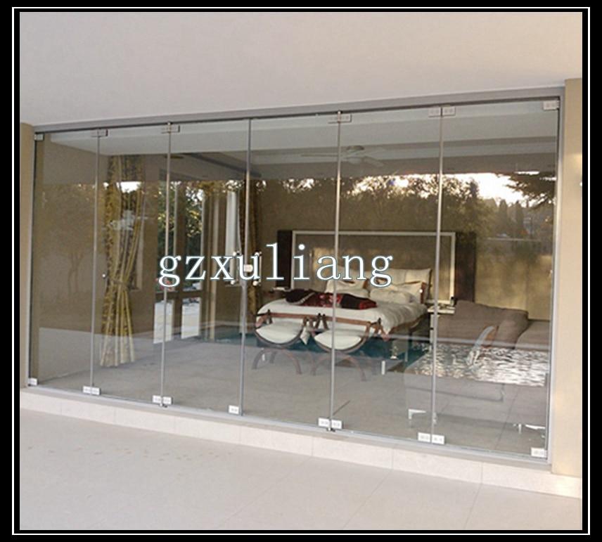 tienda online ventas calientes sin marco puerta plegable de vidrio aliexpress mvil