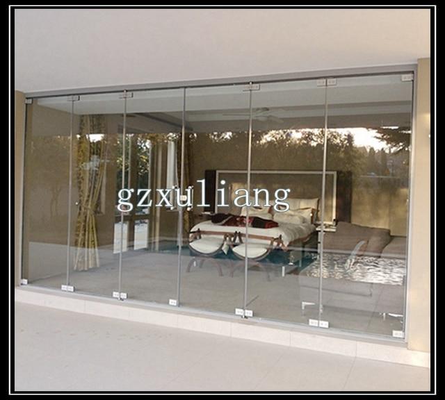 Ventas calientes sin marco puerta plegable de vidrio en Ventanas de ...