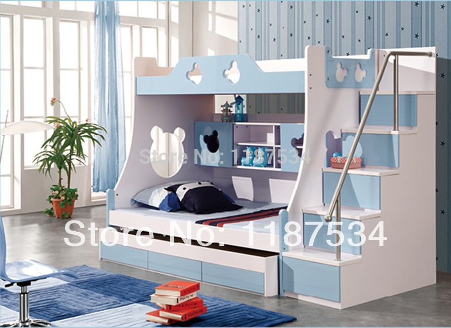 860 Children Furniture Sets With Drawers Bunk Bed Double