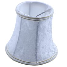 Fabric Clip On Lamp Shade, E14 Handmade Lampshade For Modern European Style Wall Sconce Lamp, Crystal Candle Table