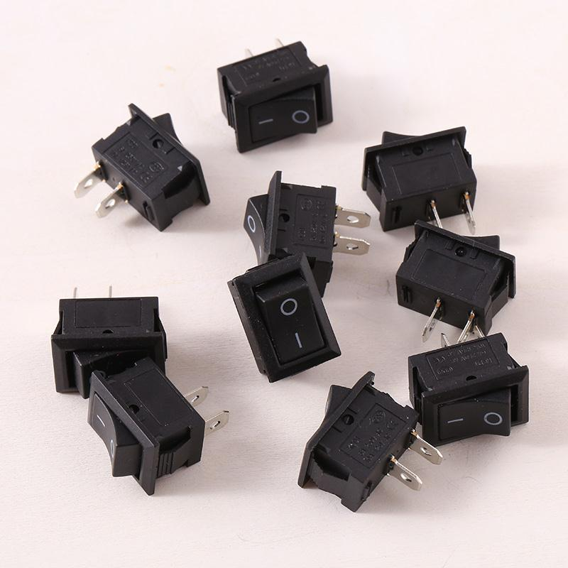 10pcs Boat Round Toggle SPST On/Off Rocker Switch Electric Accessories Parts Controls 4pcs car 220v round rocker dot boat led light toggle switch spst on off top sales electric controls