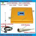 ЖК-Дисплей! Dual Band GSM 900 МГЦ & DCS 1800 мГц Усилитель Сигнала GSM Репитер DCS усилитель + крытый и открытый антенна Полный наборы