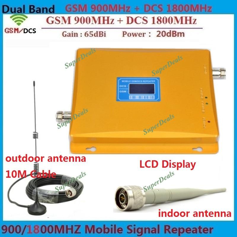 Double bande 900 1800 amplificateur de Signal GSM répéteur amplificateurs DCS répéteur de signal mobile 4G amplificateur de signal cellulaire + antennes