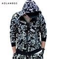 Sudaderas con capucha hombre de dibujos animados impreso animado de una pieza con capucha hip hop sudaderas streetwear otoño harajuku chaqueta de punto con capucha outwear