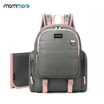 mommore Waterproof Travel Maternity Backpacks Diaper Backpack with Changing Pad Large Capacity Nappy Bag Brand Baby Bag - DISCOUNT ITEM  51% OFF All Category