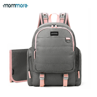 mommore Waterproof Travel Maternity Backpacks Diaper Backpack with Changing Pad Large Capacity Nappy Bag Brand Baby Bag