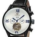 Forsining Tourbillon azul analógica dos homens relógio de pulso automático relógio ocasional relogio masculino montre homme marque de luxe